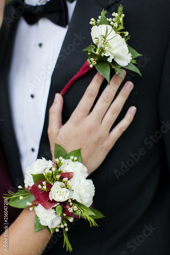 Photo Prom Date Flowers