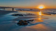 Asilomar Beach Sunset At Low T...