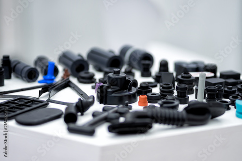 Fotografía  Plastic and rubber parts of automotive manufacturing by high precision mold inje