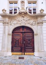 Old Wooden Door And Facade
