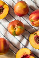 Naklejka na ściany i meble Sweet Organic Ripe Yellow Nectarines