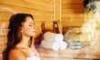 Leinwandbild Motiv Young woman relaxing in spa