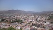 Malaga panorama from medieval castle in mediterranean spanish city