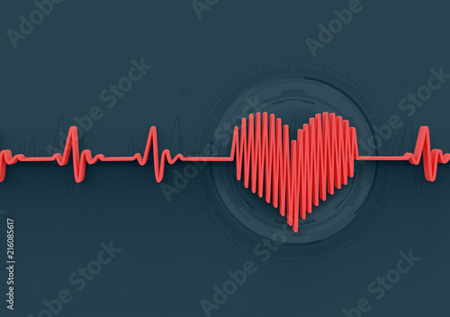 Photo heartbeat concept