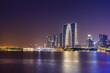 Suzhou Jinji Lake and architectural landscape nightscape