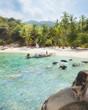 Asian tropical beach paradise in Thailand