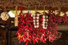 Ungarische Paprika An Marktstand