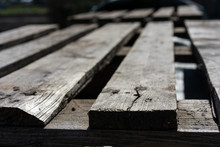 Wood Wood Pallet Detail