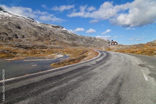 Foto op Aluminium Scandinavië Geiranger Mountain Pass