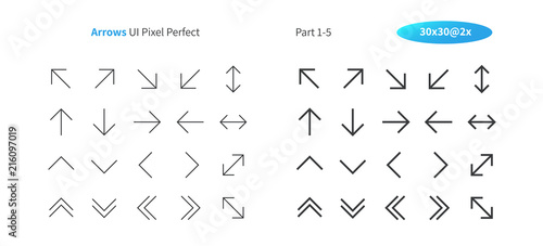 Arrows UI Pixel Perfect Well-crafted Vector Thin Line And Solid Icons 30 2x Grid for Web Graphics and Apps Wallpaper Mural