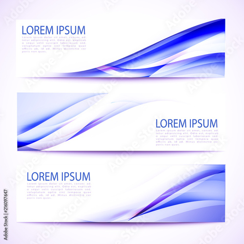 Poster Abstract wave Abstract header blue wave white design