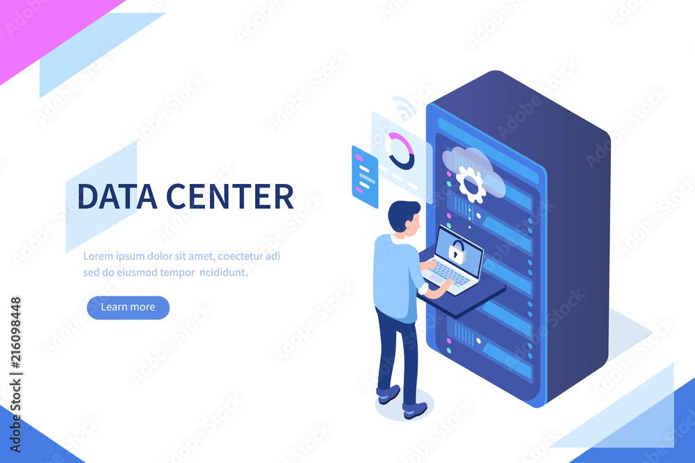 Fototapeta data center