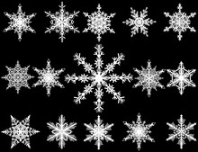 Fifteen White Snowflakes Collection