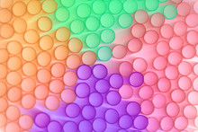 Pastel-colored Circles Blurred Into Each Other, Illustration Of Colored Blurred Circles