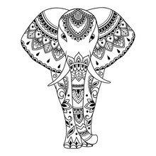 African Elephant Decorated Wit...