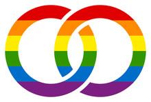 Gay Wedding Rings Rainbow