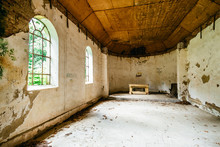 Old Abandoned Church Inside