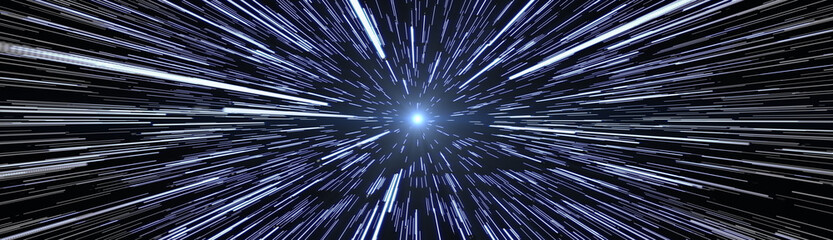 Stars Travel Hyperspace Wide size Banner Image