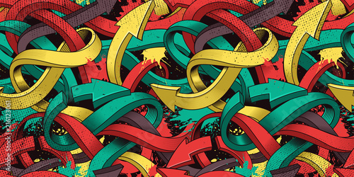 Graffiti art seamless background Wallpaper Mural