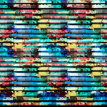Seamless Pattern Halftone Design. Digital Noise Textile Print With Watercolor Effect. Multicolored Fashion Background.