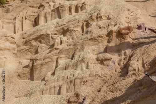 Sand texture after rain Wallpaper Mural