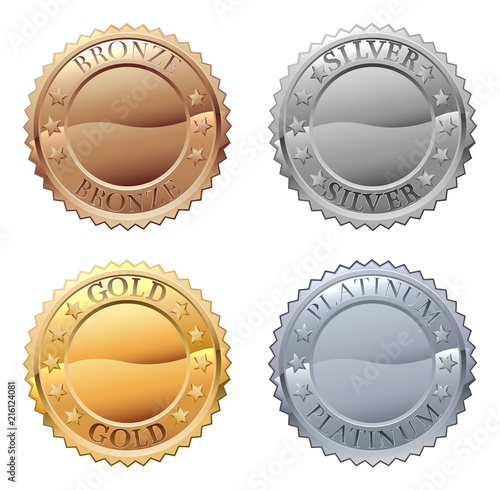 Medals Icon Set Wallpaper Mural