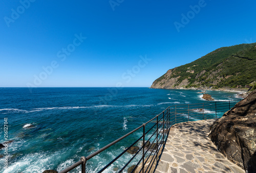 Foto op Plexiglas Liguria Mediterranean Sea and Coast in Framura - Liguria Italy