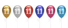 Number 11 Birthday Balloons Co...