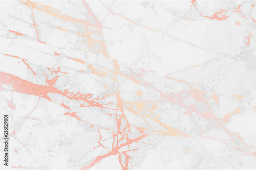 Rose Gold Marble Vector Background Design Template For
