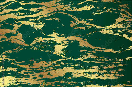 Marble Emerald Green Texture Design With Golden Pattern For