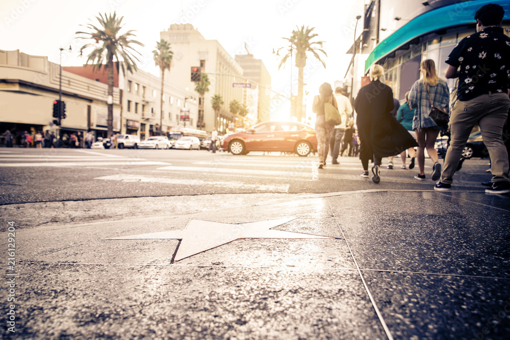 Walk of Fame, Hollywood Canvas Print