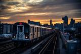 Fototapeta Nowy Jork - Subway train in New York