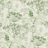 Elegancki klasyczny ziołowy wzór - 216129654