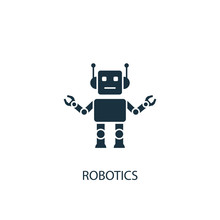 Robotics Creative Icon. Simple Element Illustration