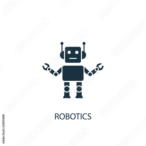 Photo Robotics creative icon. Simple element illustration