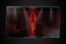 Neon Image Of Dancing Striptea...