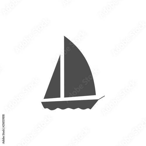 Fotografia  Sailboat vector icon