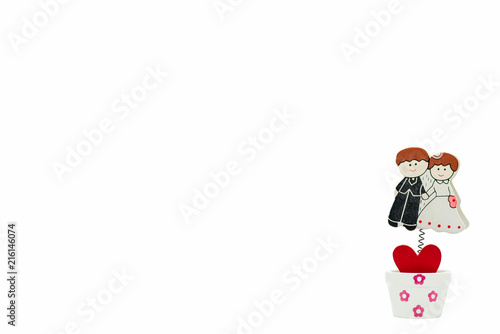 Cartoon Wedding Couple Drawing On Wood Isolated On White Background Buy This Stock Photo And Explore Similar Images At Adobe Stock Adobe Stock