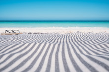 Flip Flops On A Beach Towel, Australia