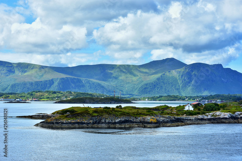Beautiful landscape on the coast of famous Atlantic Ocean Road - Atlanterhavsveien , More og Romsdal county, Norway.