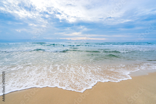 Staande foto Strand abstract wave bubble on the beach seascape