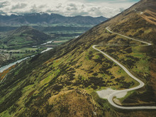 Switchback Road, Remarkables Mountain Range, Queenstown, South Island, New Zealand