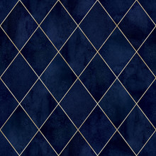 Argyle Geometric Watercolor Se...
