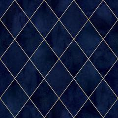 Fototapeta Architektura Argyle geometric watercolor seamless pattern