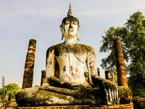 Fotografie, Obraz  Beautiful photo of the Sukhothai ruins taken in thailand, Asia