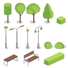 Public Park Vector Illustratio...