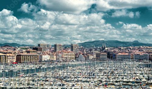 Fotobehang Poort Old port of Marseille, France