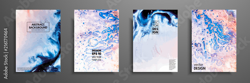 Fotografering  Abstract painting, can be used as a trendy background for wallpapers, posters, cards, invitations, websites