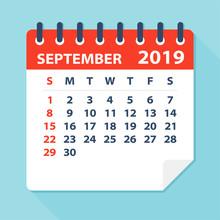 September 2019 Calendar Leaf -...