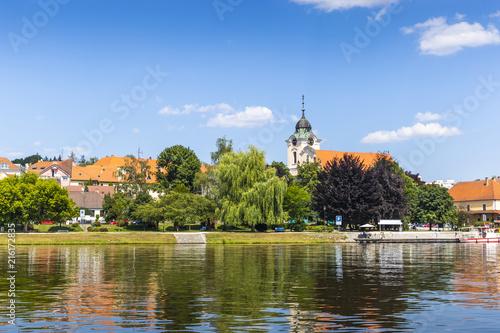 Keuken foto achterwand Kanaal Tyn nad Vltavou and Vltava river. Czech republic.